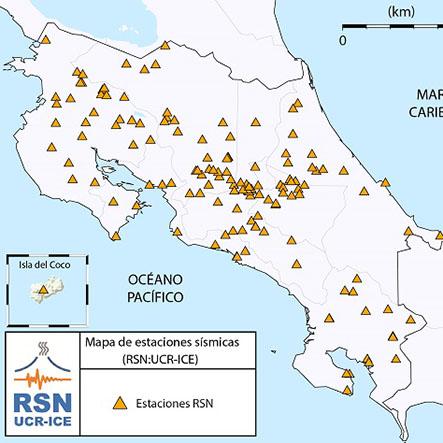 Estaciones de registro de la RSN:UCR-ICE