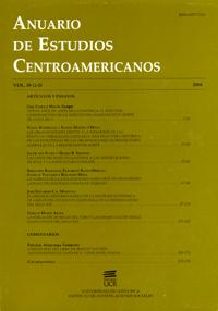 Anuario de Estudios Centroamericanos, Vol. 30 (2004)