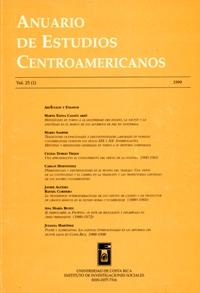 Anuario de Estudios Centroamericanos, Vol. 25, No. 1 (1999)