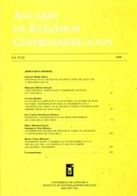 Anuario de Estudios Centroamericanos, Vol. 25, No. 2 (1999)