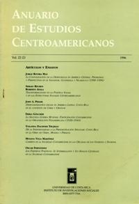 Anuario de Estudios Centroamericanos, Vol. 22, No. 2 (1996)